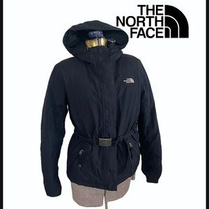 The North Face Black Down Belted Jacket
